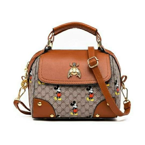 Cute Mickey Mouse waterproof PU Leather bag
